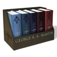 Game of Thrones by George R.R Martin Leather Box Set of 5 books
