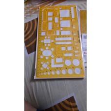 Stencils fixture Plastic plate 1/4th scale size