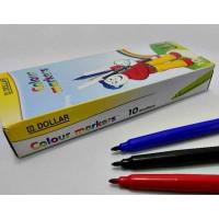 DOLLAR Fiber Tip Single Color Marker Pack of 10