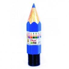 DEER color pencils plastic Pack of 24