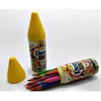 DEER 12 Half Size color pencils in Plastic Case