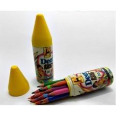 DEER 12 Half Size color pencils in Plastic Case