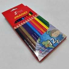 Piano Color Pencil in Real Wood Pack of 12