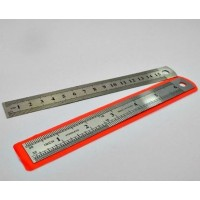 "Stainless Steel Foot Ruler Thick ( scale ) 6"" 15cm"
