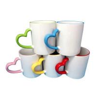 Custom designed Mugs with Heart Handle