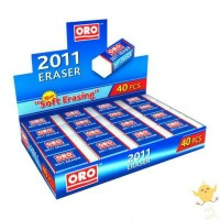 ORO ERASERS Pack of 40 Pieces