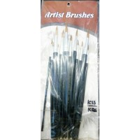 Paint brushes pack of 12 black
