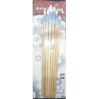 Paint brushes pack of 9-Brown
