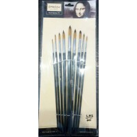 Paint brushes pack of 9 black BOMEGA